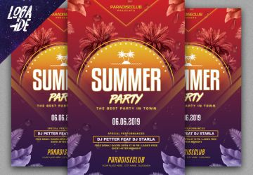 Summer Party Flyer Template by lobaide