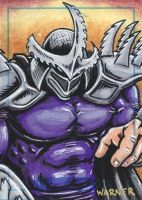 Super Shredder sketch card by JLWarner