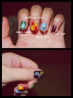 Harry Potter inspired nails by martinrivass