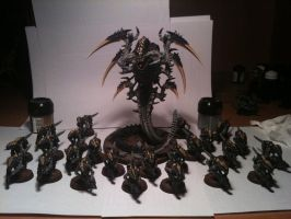 A Hive Fleet in the making by Stefoserpent