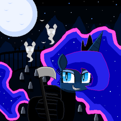 The Princess of Nightmare Night (pixel art) by SuperHyperSonic2000