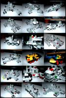 A Montage of LEGO Vehicles by Frohickey