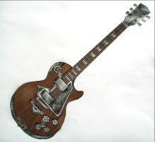 Steampunk guitar (collaborative project) by hecestmoi