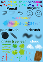 Round brush application(Photoshop CS6) by hong-hui-lin-shenmu