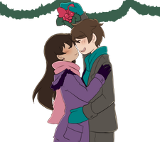 Mistletoe kissu [Butterfly Lovu] by aidmoon