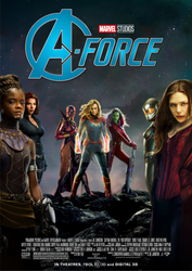 Marvel's A-Force movie poster by ArkhamNatic