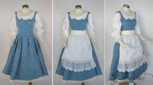 Belle Blue Dress Provential Town Cosplay by glimmerwood