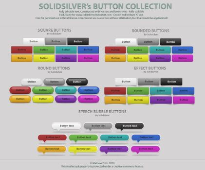 Free button collection by SolidSilver