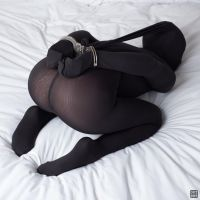 Cuffed in black nylon 10 by okt0br