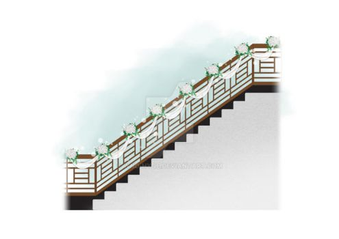 wedding stair simple deco by WnD-HYDE