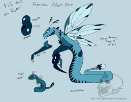 $10 USD Fakemon Bug Water Adopt Set (Open) by TheBumbleRaven