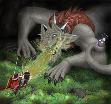 Defeat the dragon, save the princess by gor1ck