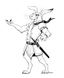 Outgoing Long Patrol Hare by Temiree