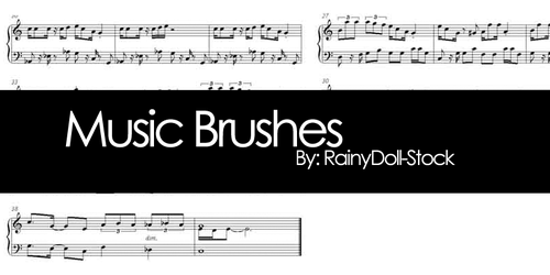 Music Brushes by RainyDoll-Stock