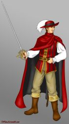 Tebaldo de la Rouge, the Red Mage by ReevScythe