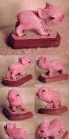 sculpture of a piglet out of sculpey by dwightyoakamfan