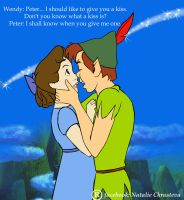 Peter and Wendy and their first kiss by NatPortman