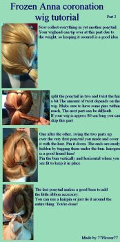 Frozen Anna coronation wig tutorial part 2 by 77Flower77