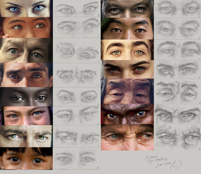 Eye Studies by charfade