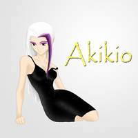 Akikio with Black Dress by DaEliminator