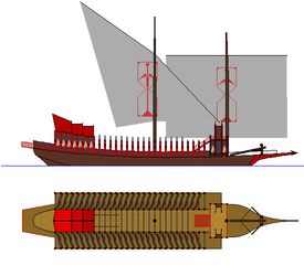 gothic galley - fantasy ship concept (colored) by oldschoolitems