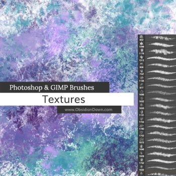 Texture Photoshop Brushes by redheadstock