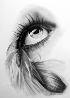 Feathered eye by WitchiArt
