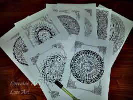 8 Pages Complete for Celtic Knots Coloring Book! by LorraineKelly