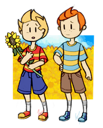 Lucas and Claus by DrakynRoll