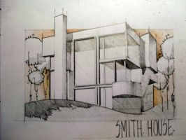 smith house color by CoffeeCupcake