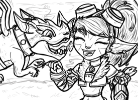 Dragon Trainer Tristana (WIP) by InkRose98
