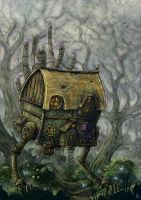 The hopping hut of Baba Gaga by mr-nick