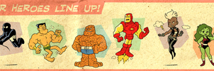 Marvel Super Heroes by BezerroBizarro