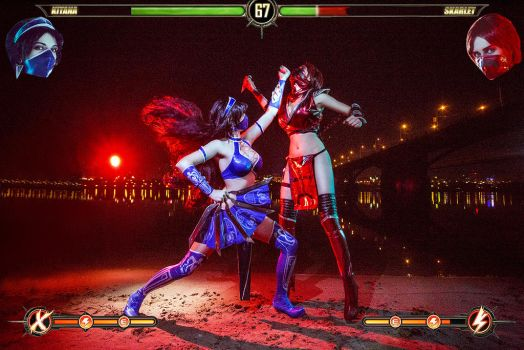 Kitana Skarlet Mortal Kombat IX Game Sexy Cosplay by AGflower
