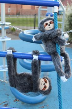 Plush Sloths by StitchItMama