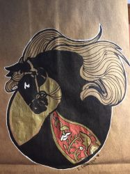 Brown bag art -- Horse by The-Z
