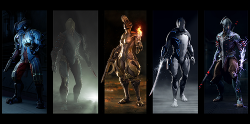 Warframe posters 5 in 1 by Aerial1