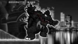 Symbiowser (Bowser with the Venom Symbiote) by Zacmariozero