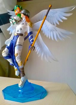Angemon statue by twisted-wind