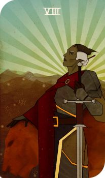 DAI inquisitor tarot cart: VIII the strength by Margenal