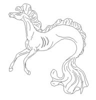 hippocampus outline by BeautyGirl1510