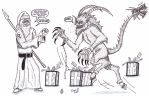 Santa Christ vs Krampus by XenoTeeth3