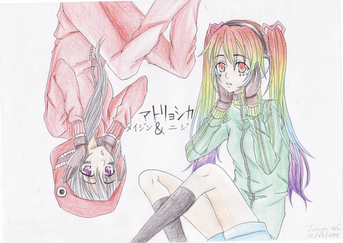 Meijing and Niji by anime-lover12345
