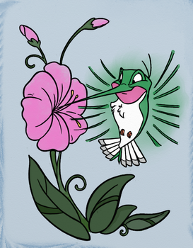 Flit (Watercolor) by Writer-Colorer