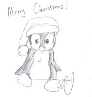 Advent Day 3, Evil Penguin by HuntressGuya