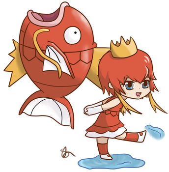 magikarp girl by winterchicken-chan