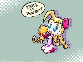What's Up Pussycat - wall by MutantPenguin