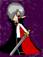 the vampire with a sword by Zeldanerd4ever