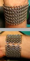 Chainmaille bracelet by unreal-hunter
