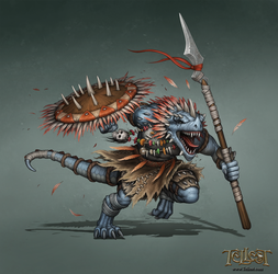 Tribal Lagano Concept Art by Mikedeangelo